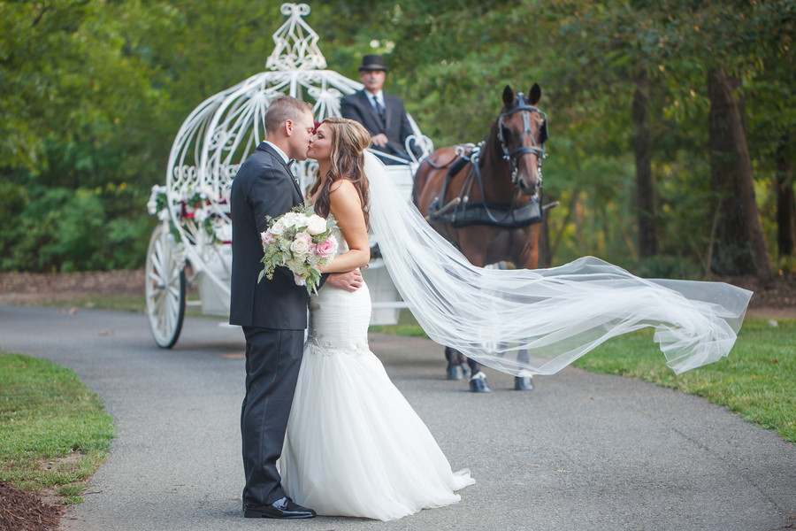 Fairytale wedding day complete with a horse & carriage
