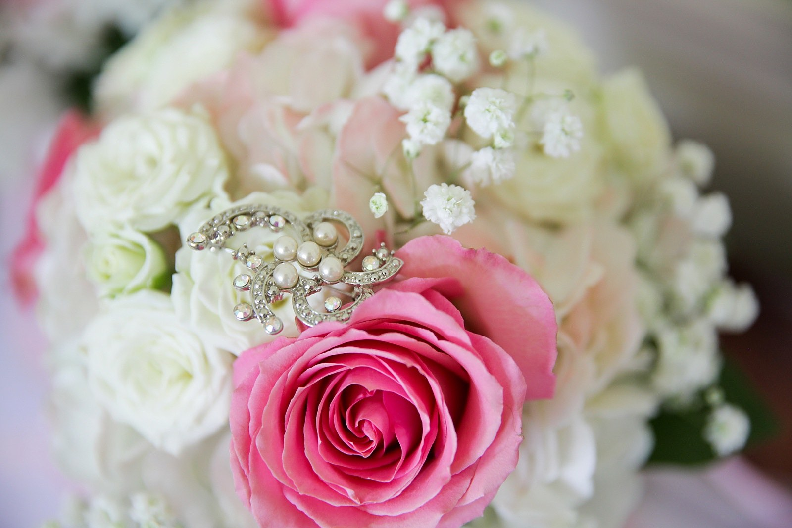 Soft pink and navy rustic wedding with fun personal twists -- Bustld ...