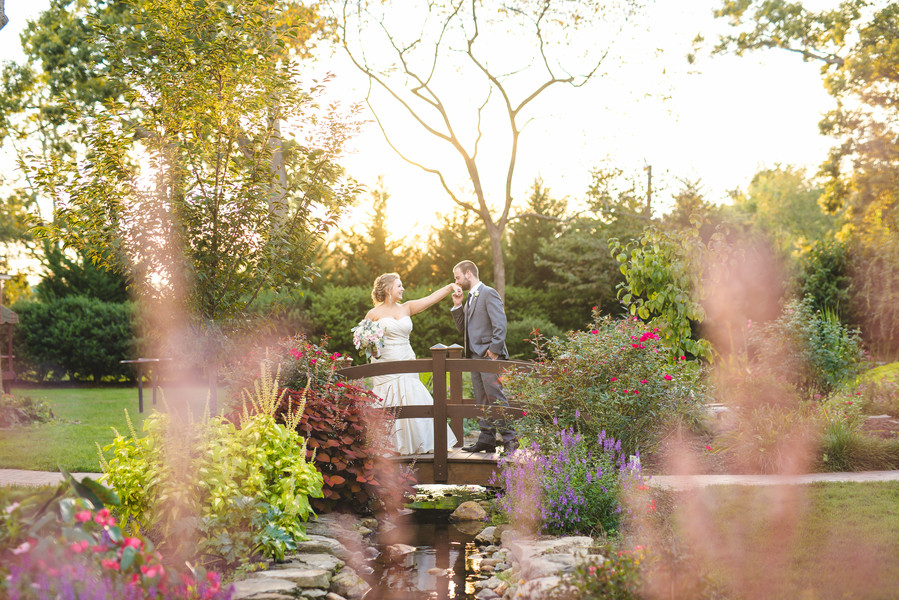 "Stars align for this cute couple who said ""I do"" in a rustic garden wedding"