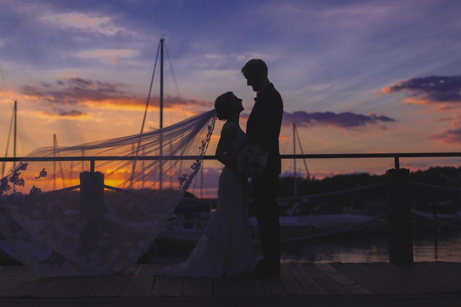 Classically Romantic Yacht Club Wedding