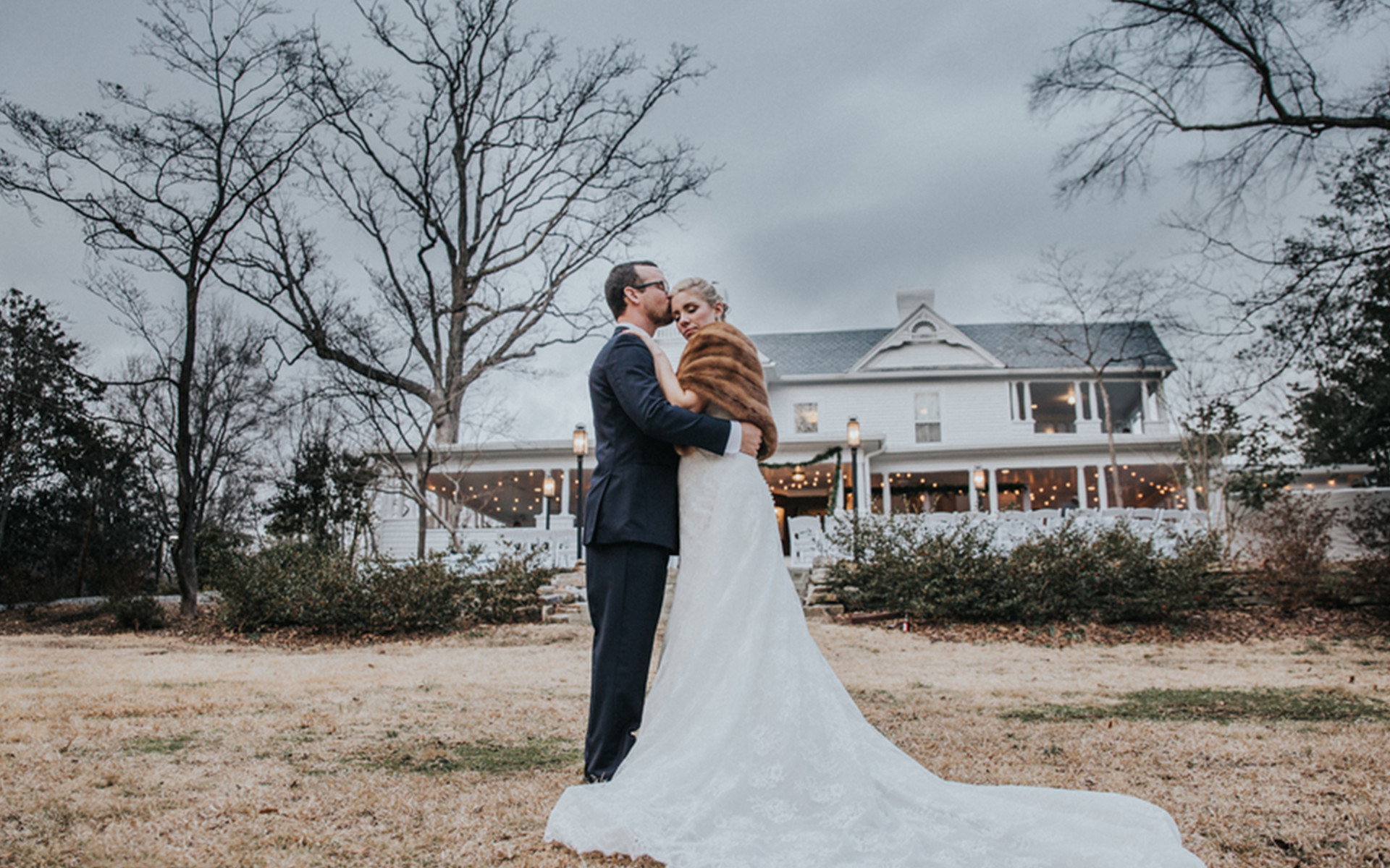 BBQ, Cocktails, and Vintage Inspired Winter Wedding