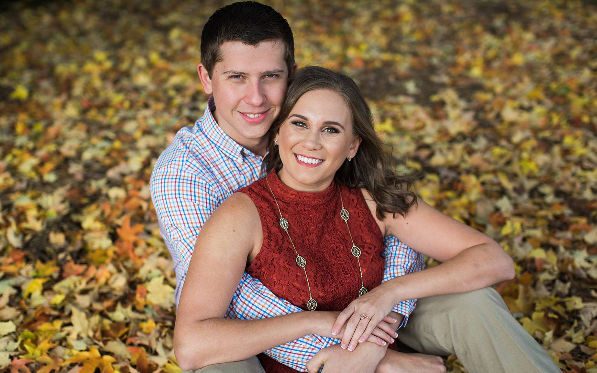 A Chilly Fall Engagement Shoot in Downtown Davidson
