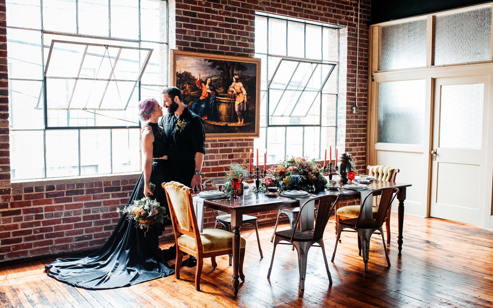 Spooky Romance Brought to Life in Steampunk Styled Shoot