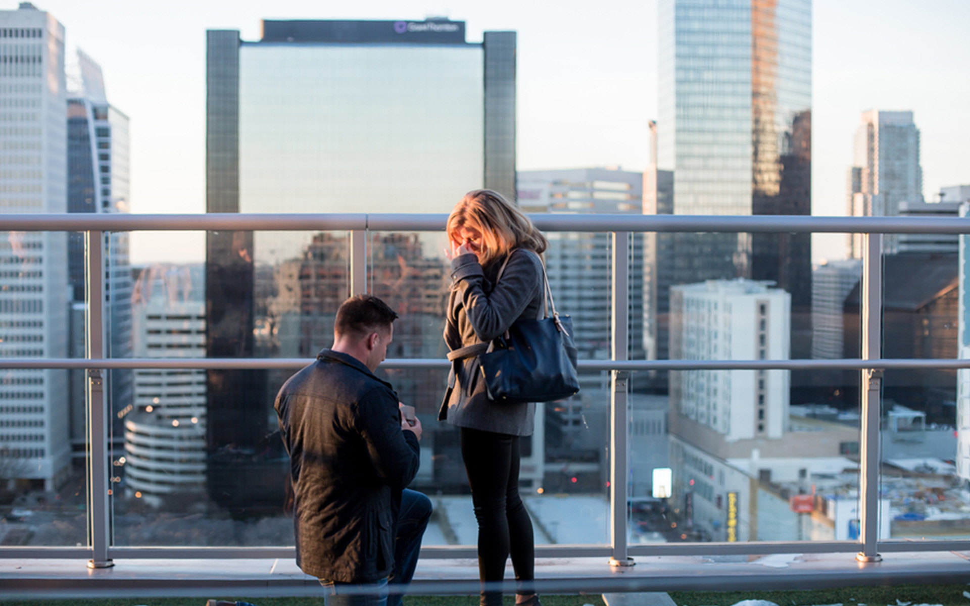 The Perfect Rooftop Proposal in Uptown Charlotte